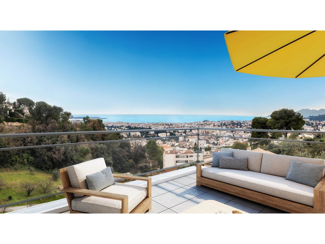 Appartement neuf Cannes vue mer